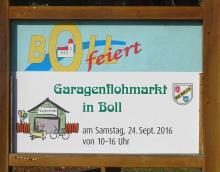Dorfflohmarkt Hinweistafel